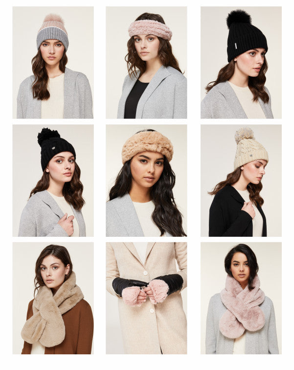 Soia and Kyo Fall 2019 - toques, headbands, scarves and mittens