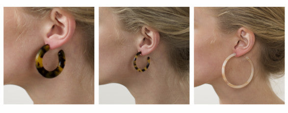 Machete tortoise shell earrings