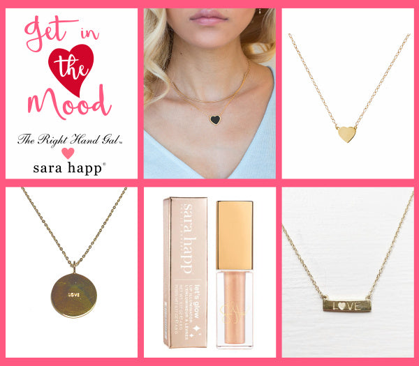 Get in the mood with The Right Hand Girl jewellery and Sara Happ lip gloss