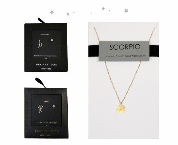 Secret Box and Jenn Fenton astrological jewellery