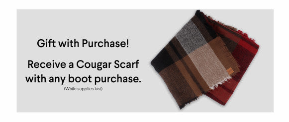 Cougar Scarf - gift with purchase - while supplies last.