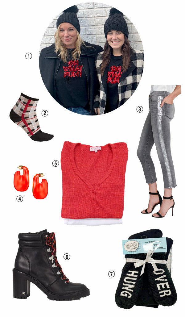 Oh what fun gifts from Hue, Sam Edelman, Frame, Michael Stars, Jenny Bird, C'est Moi and more