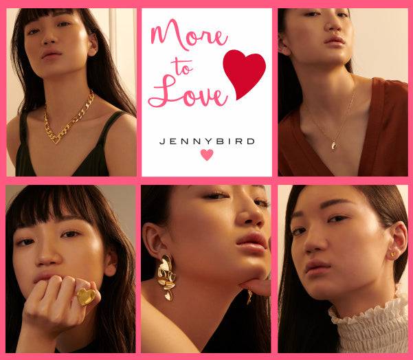 More to Love with the Jenny Bird Love Collection. Necklaces, rings, and earrings.