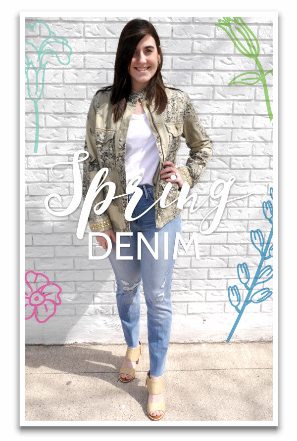 Spring Denim Head to Toe look featuring Frame jeans