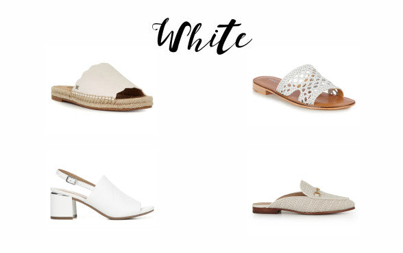 White shoes from Sam Edelman, Emu and Franco Sarto