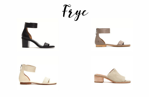 A selection of Frye shoes