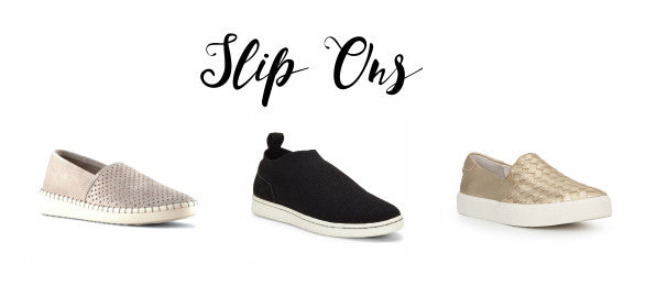 Slip ons from Cougar, Ellen Degeneres and Sam Edelman