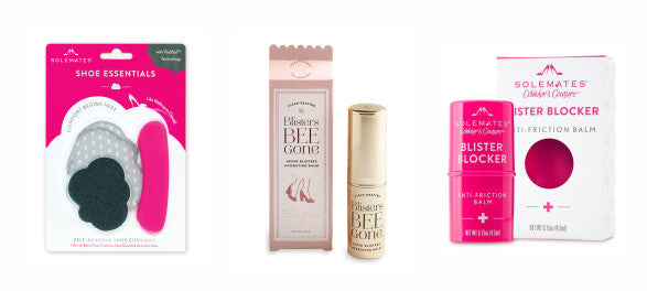Blister protection products from Solemates and Baublerella