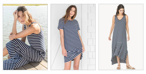 Lilla P Navy and white stripe dresses