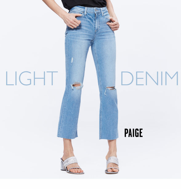 Light Denim header - Paige denim shown
