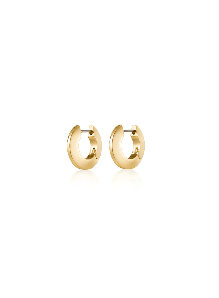 SMALL TONI HINGED HOOPS (GOLD) - JENNY BIRD