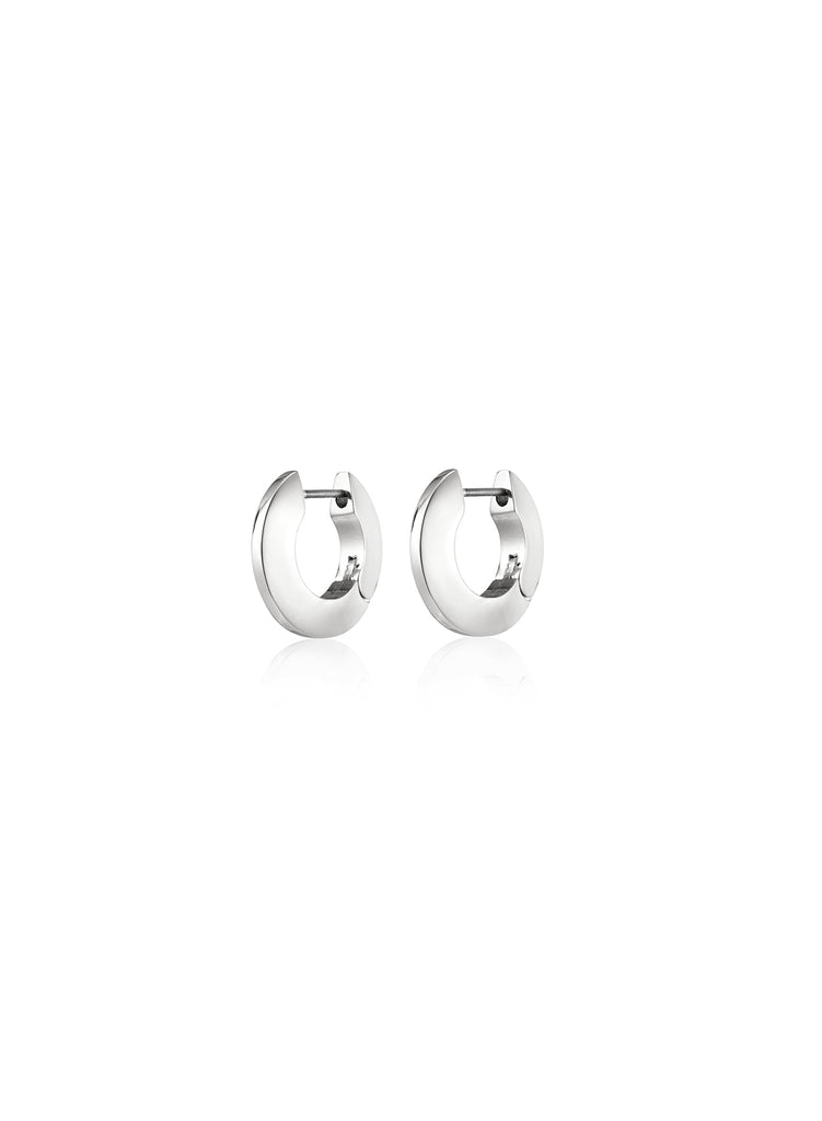 SMALL TONI HINGED HOOPS (SILVER) - JENNY BIRD