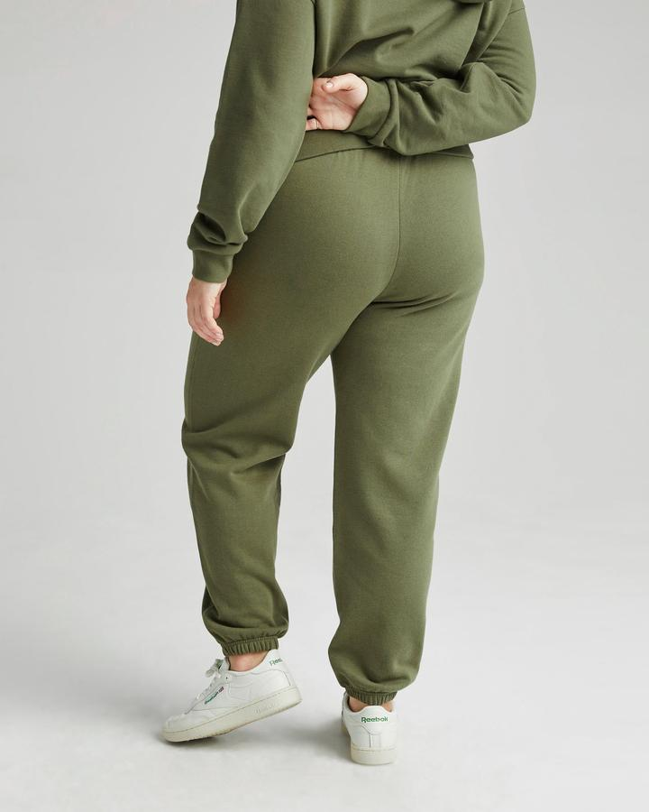 RECYCLED FLEECE CLASSIC SWEATPANT (OLIVE ARMY) - RICHER POORER