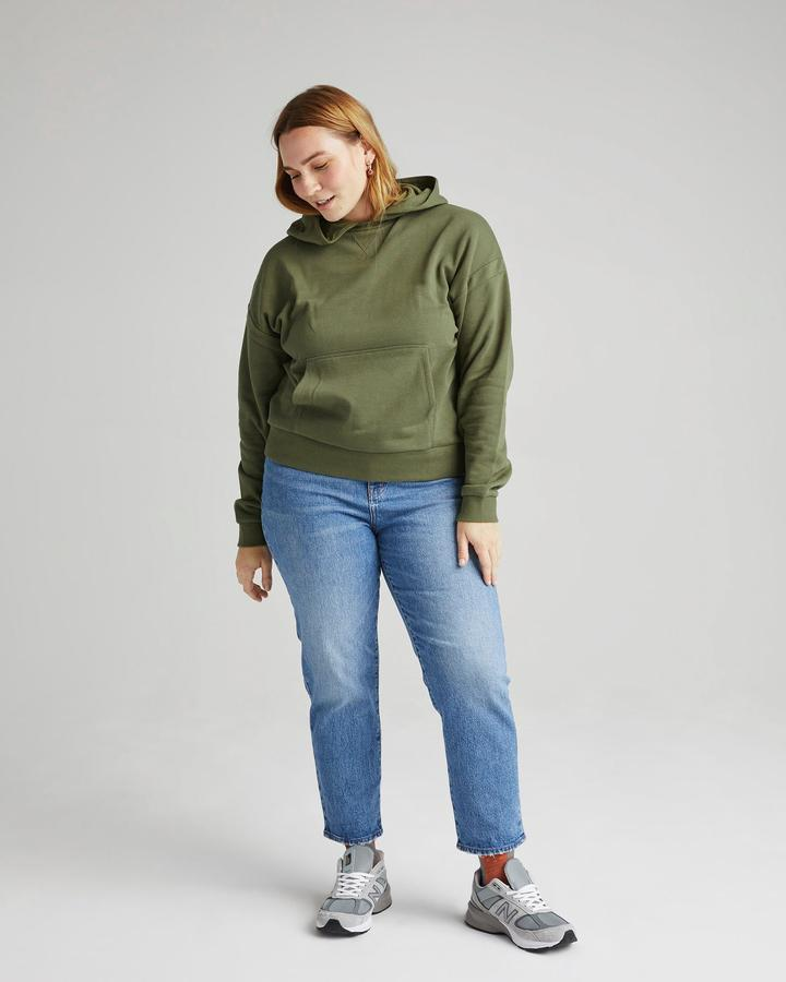 RECYCLED FLEECE HOODIE (OLIVE ARMY) - RICHER POORER