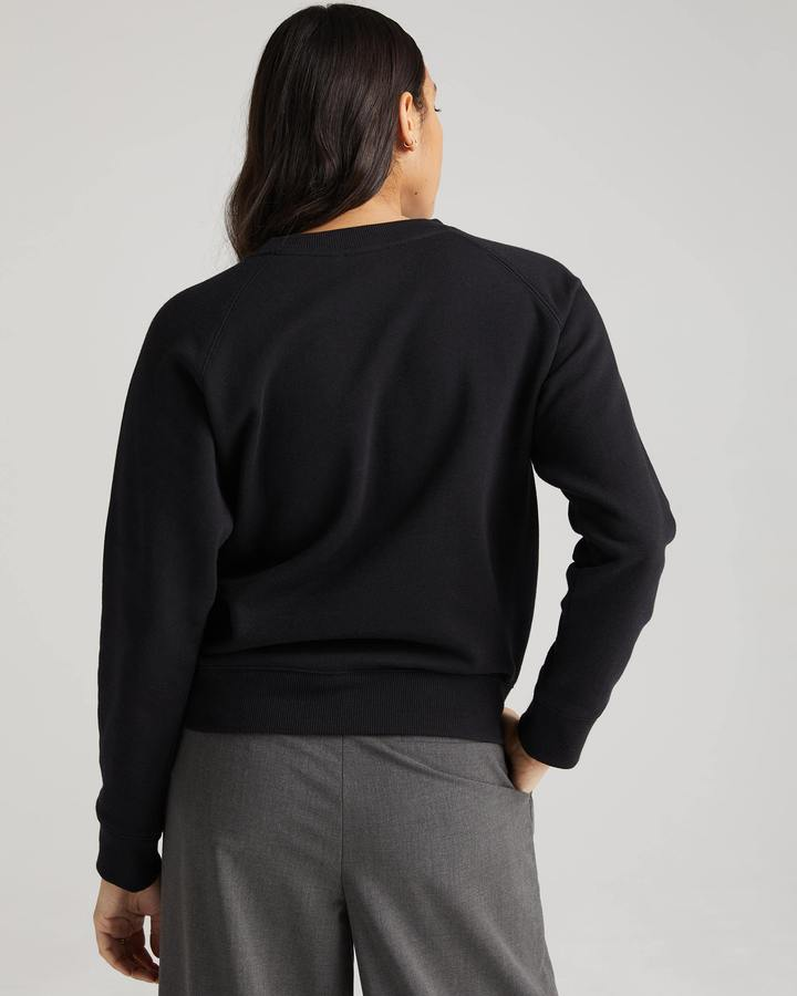 RECYCLED FLEECE SWEATSHIRT (BLACK) - RICHER POORER