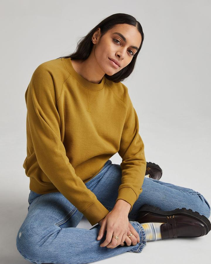 RECYCLED FLEECE SWEATSHIRT (GOLDEN VERDE) - RICHER POORER