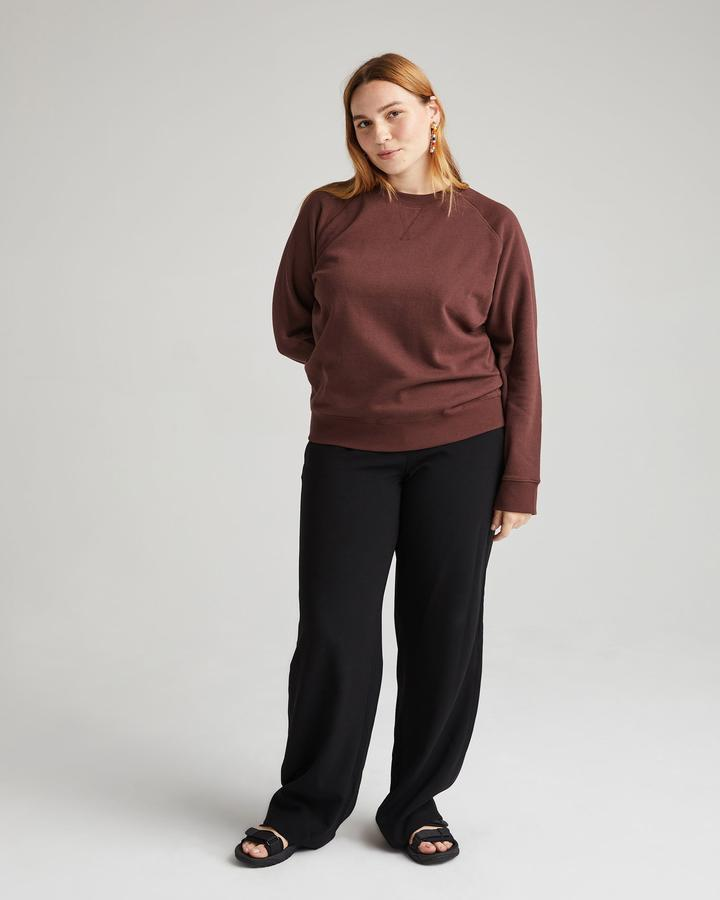 RECYCLED FLEECE SWEATSHIRT (TRUFFLE) - RICHER POORER