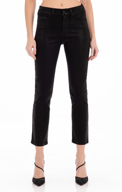 CHER STRAIGHT LEG COATED JEAN (BLACK VIXEN) - FIDELITY