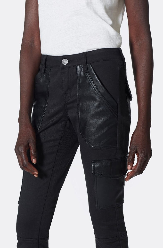 OKANA B CARGO SKINNY WITH COATED DETAILS (BLACK) - JOIE