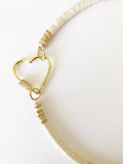 HEART CLASP VINYL DISC NECKLACE - JENN FENTON