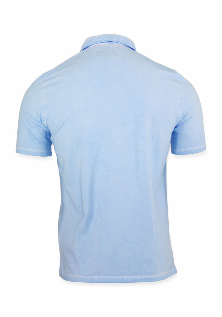 SHORT SLEEVE POLO (AQUA) - 7 DOWNIE