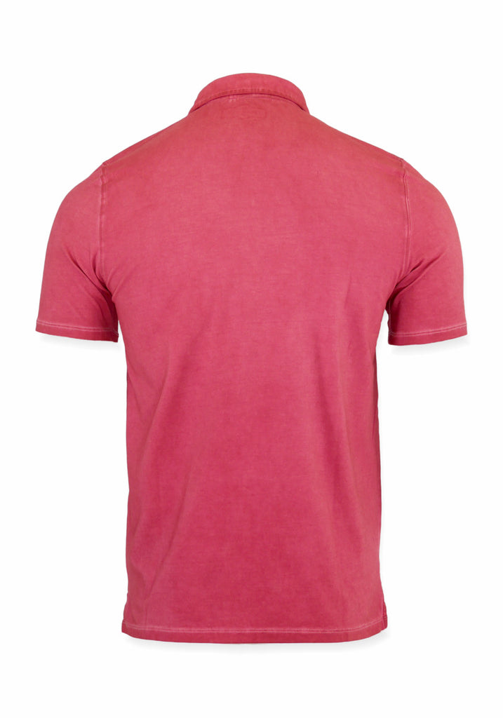SHORT SLEEVE POLO (BERRY) - 7 DOWNIE