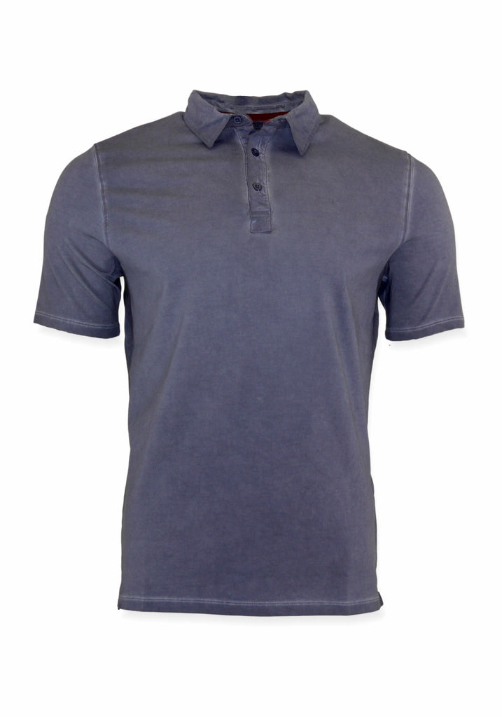 SHORT SLEEVE POLO (INDIGO) - 7 DOWNIE
