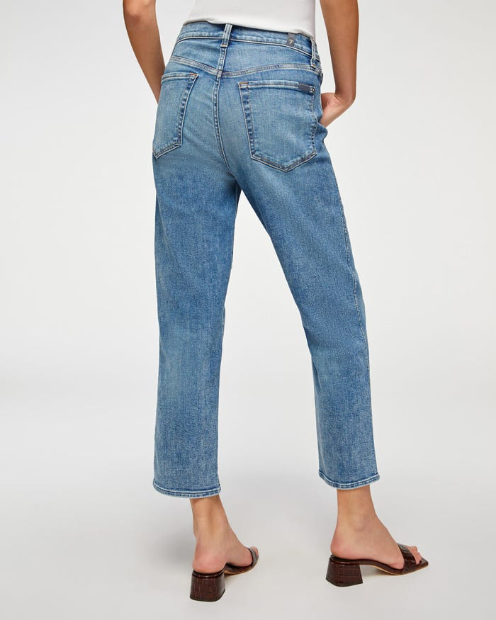 LUXE VINTAGE HIGH WAIST CROPPED STRAIGHT (SLOANE VINTAGE) - 7 FOR ALL MANKIND