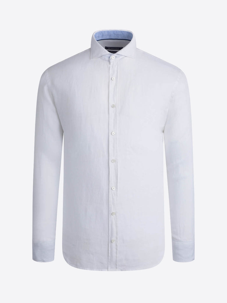LONG SLEEVE LINEN SHIRT - BUGATCHI