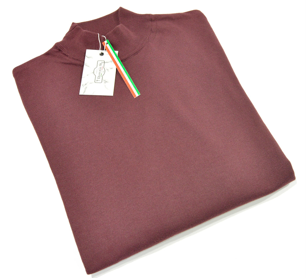 MOCK NECK SWEATER (BORDEAUX) - 7 DOWNIE