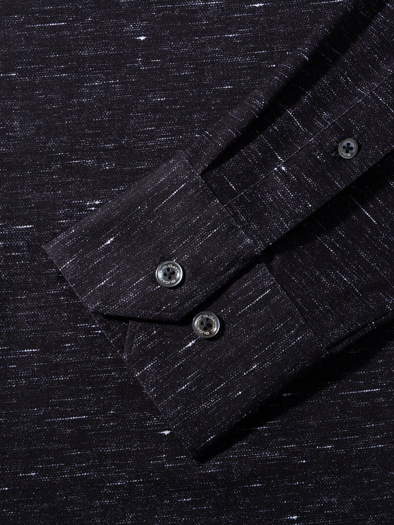 LONG SLEEVE KNIT SHIRT (GRAPHITE) - BUGATCHI