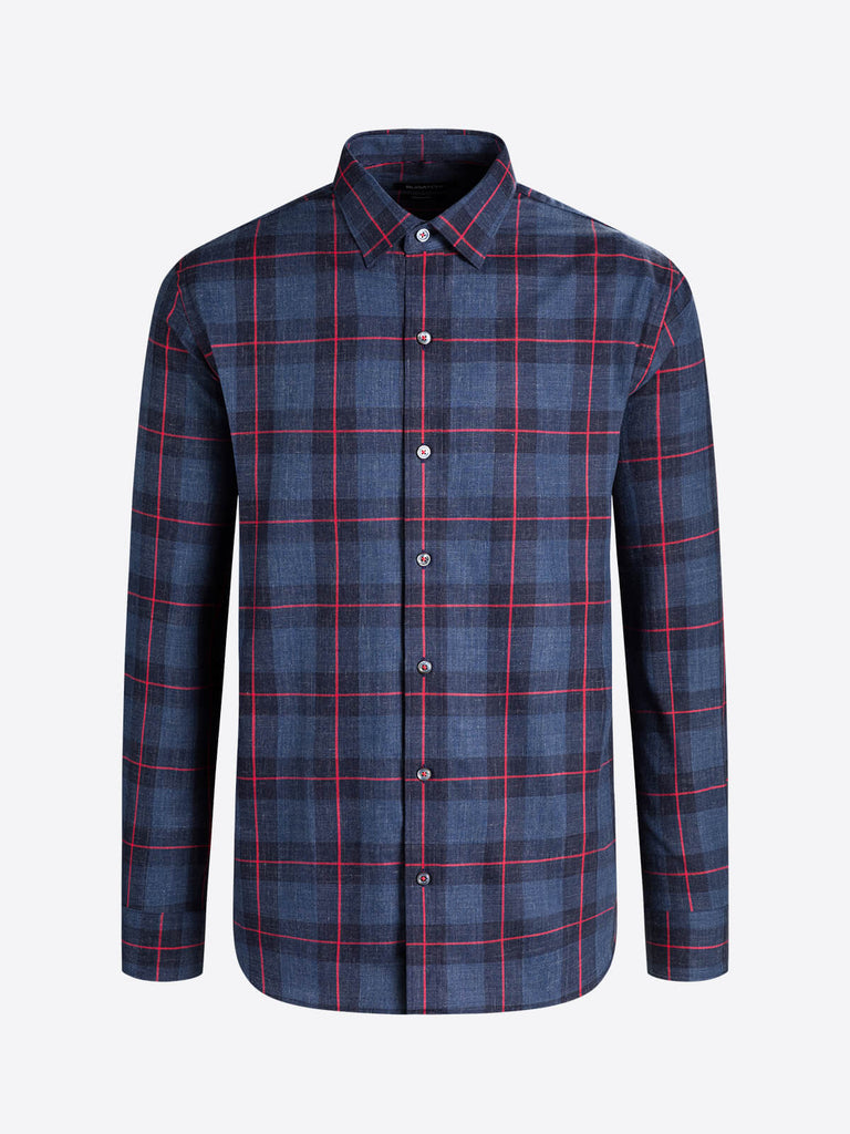LONG SLEEVE SHAPED SHIRT (INDIGO)- BUGATCHI