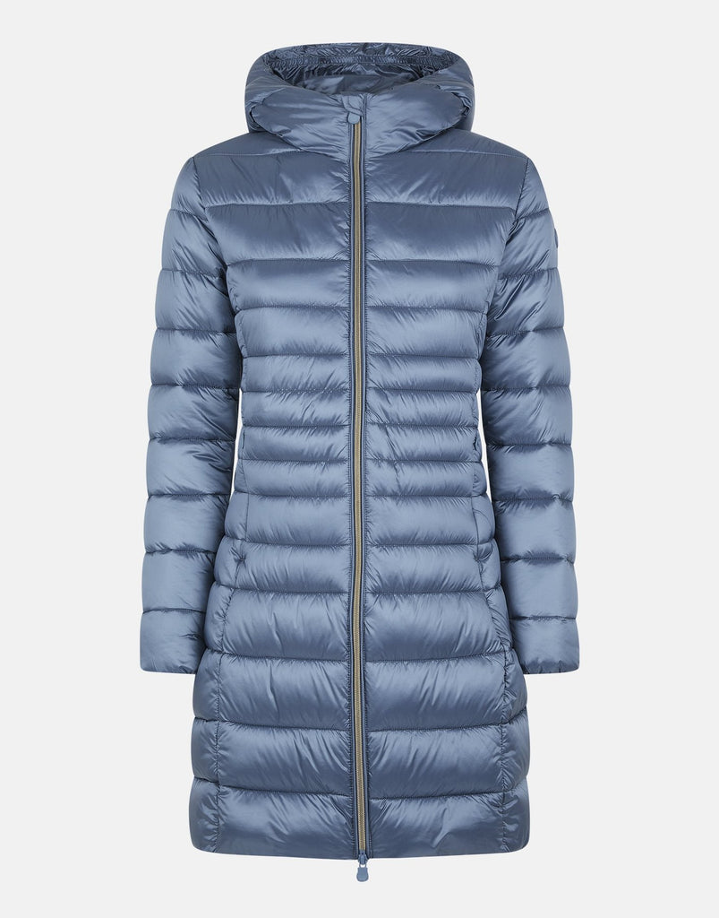 HOODED LONG QUILTED COAT- SAVE THE DUCK