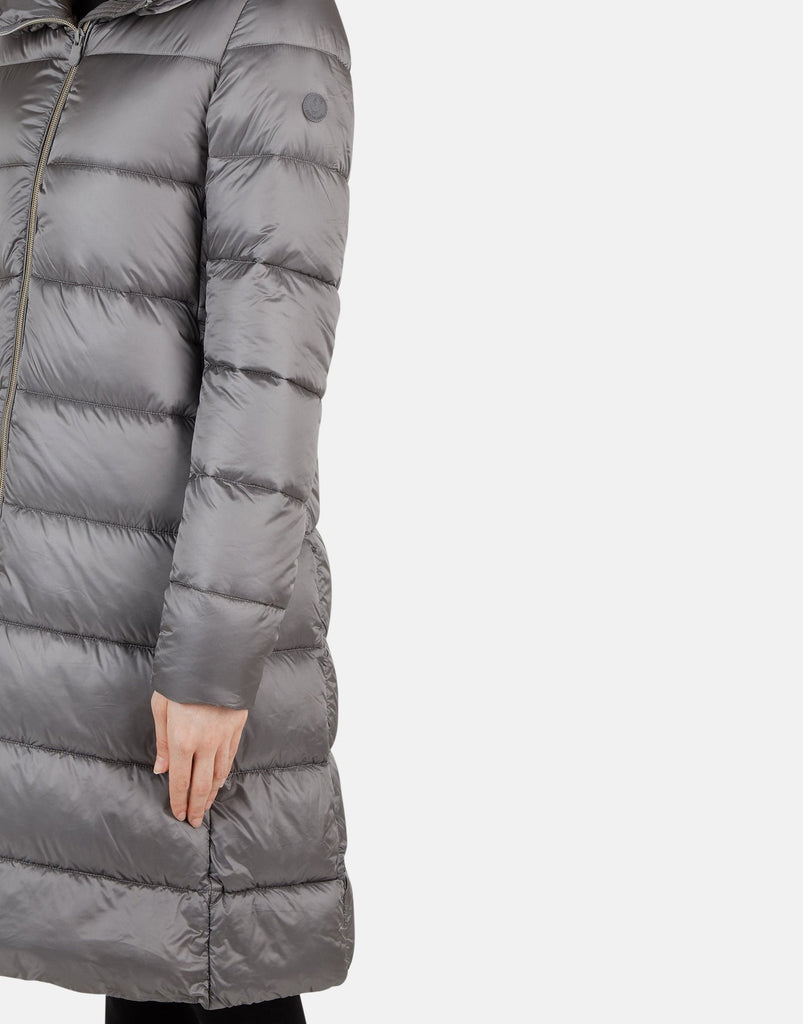 LONG QUILTED PUFFER COAT - SAVE THE DUCK