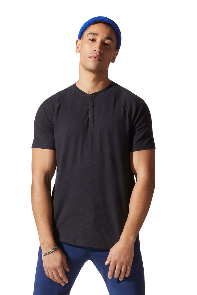 LEGEND SLUB HENLEY (BLACK) - GOODMAN