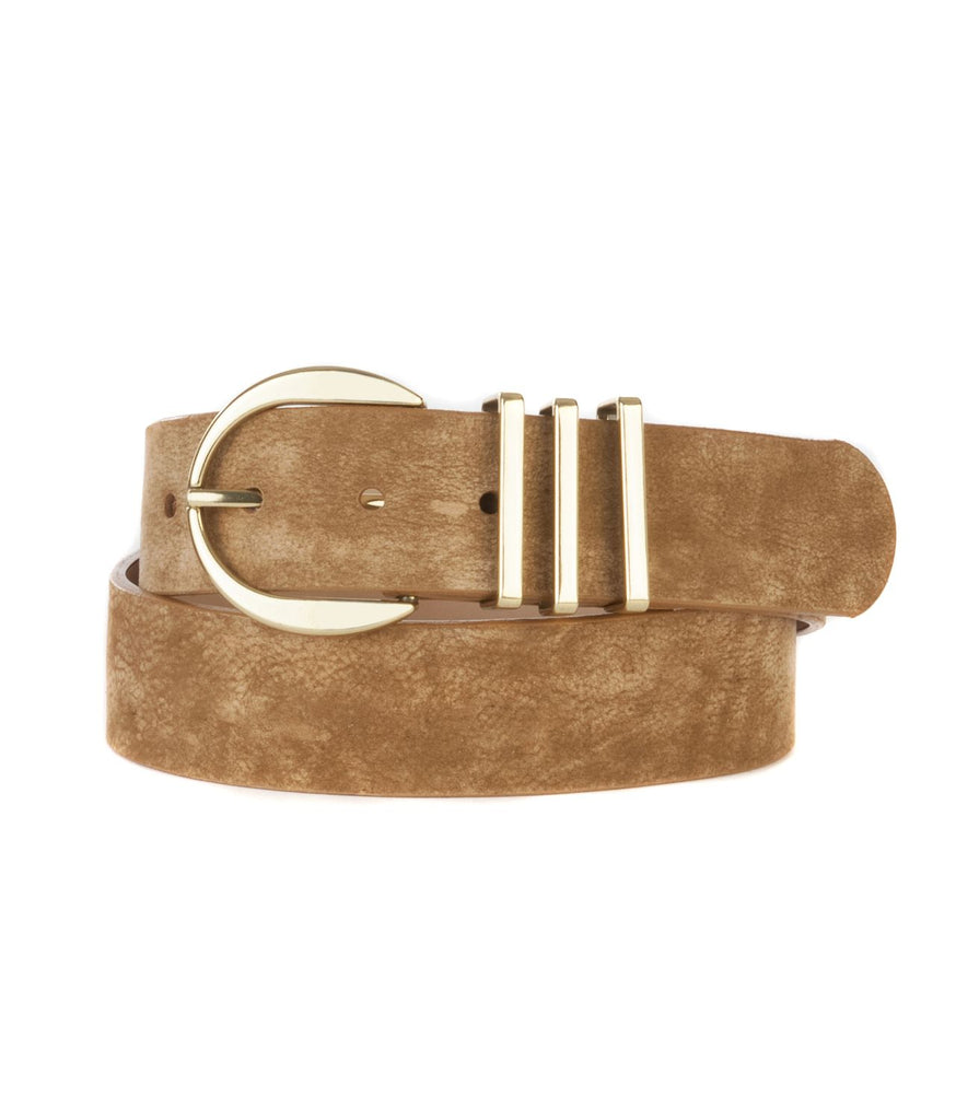 KIKU SAFARI LEATHER BELT - BRAVE