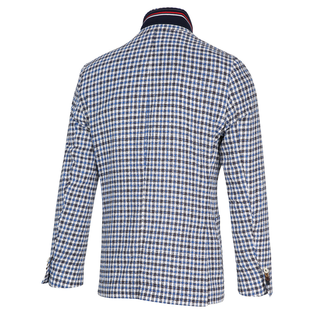 SMALL CHECK BLAZER - BLUE INDUSTRY