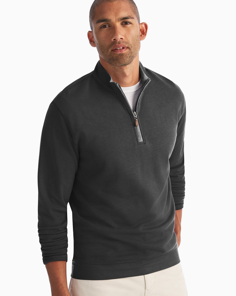 SULLY 1/4 SWEATER (BLACK)- JOHNNIE-O