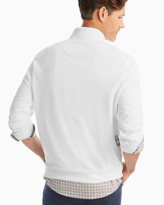 SULLY 1/4 SWEATER (WHITE)- JOHNNIE-O