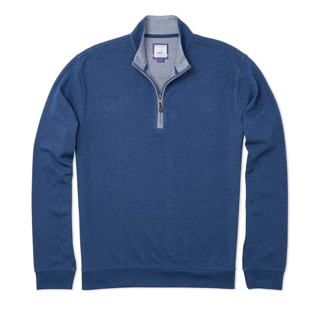 SULLY 1/4 SWEATER (BLUE)- JOHNNIE-O