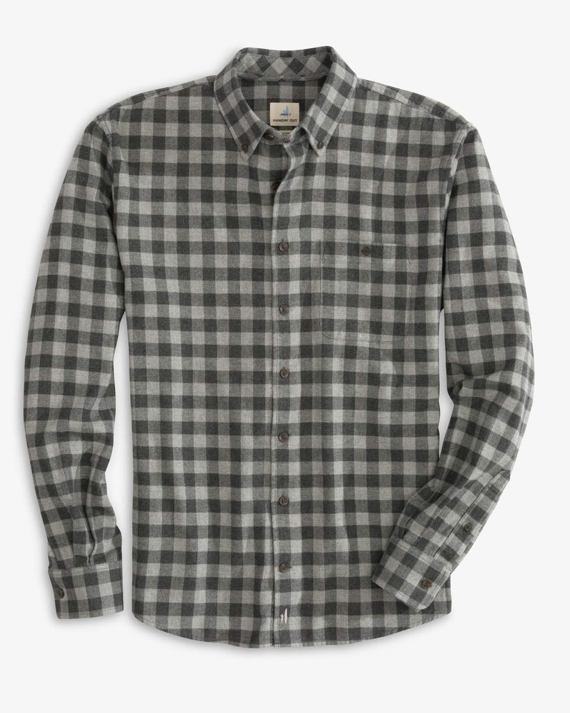HAWKINS BUTTON DOWN SHIRT (CHARCOAL)- JOHNNIE-O