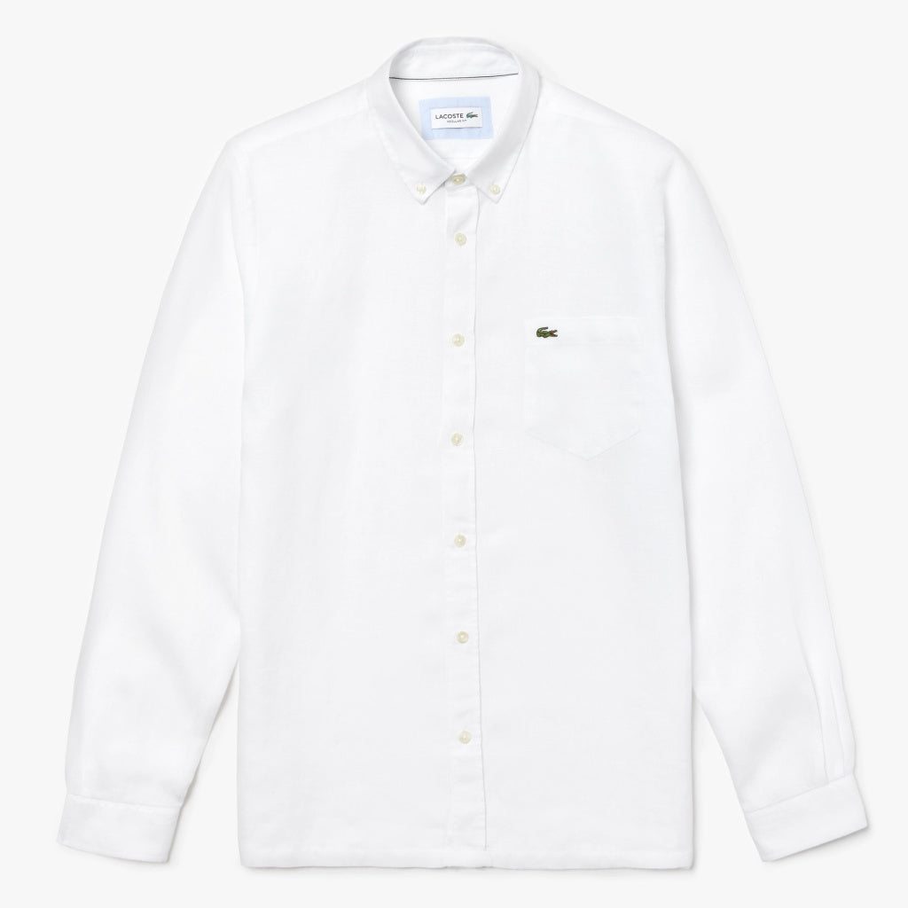 LONG SLEEVE LINEN SHIRT - LACOSTE