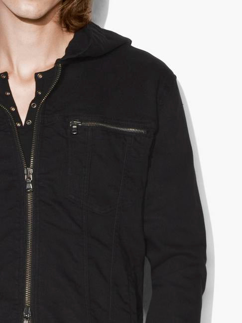 HOODED JEAN JACKET - JOHN VARVATOS