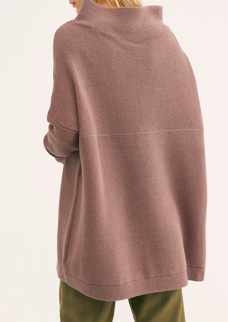OTTOMAN SLOUCHY TUNIC (NUTMEG) - FREE PEOPLE