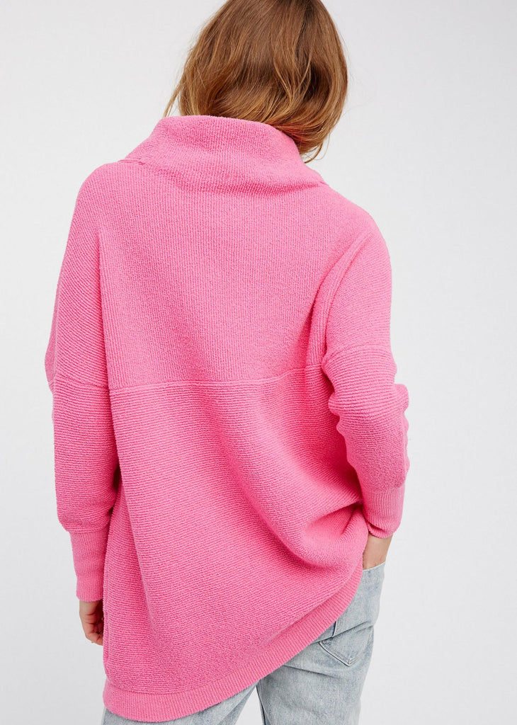 OTTOMAN SLOUCHY TUNIC (ELECTRIC PINK) - FREE PEOPLE