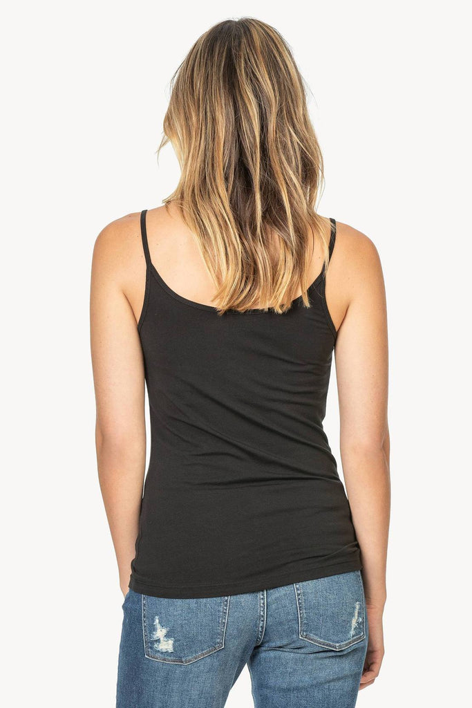 COTTON CAMI (BLACK) - LILLA P