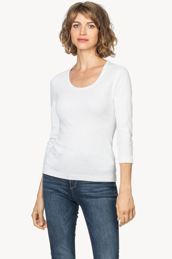 3/4 SLEEVE SCOOP NECK - LILLA P