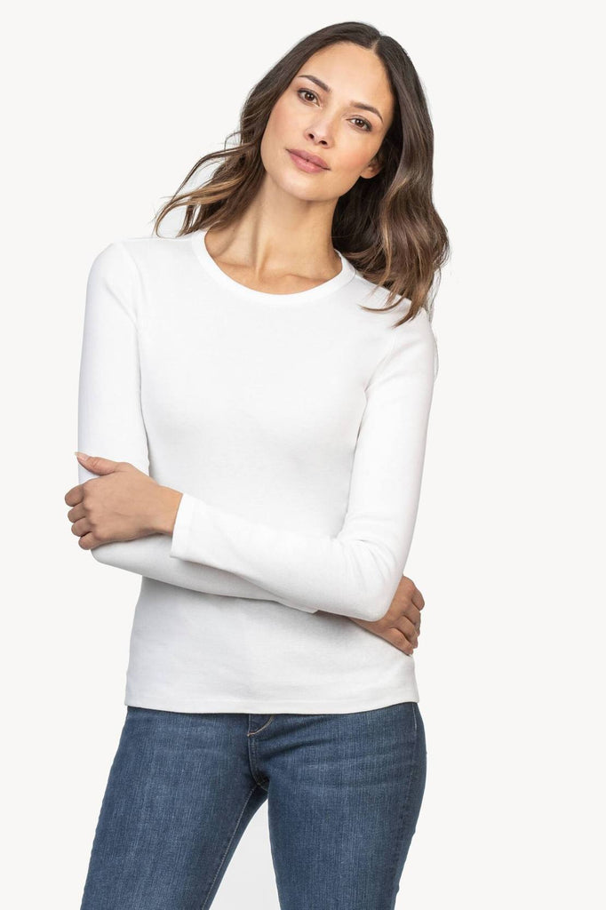 LONG SLEEVE CREW (WHITE) - LILLA P