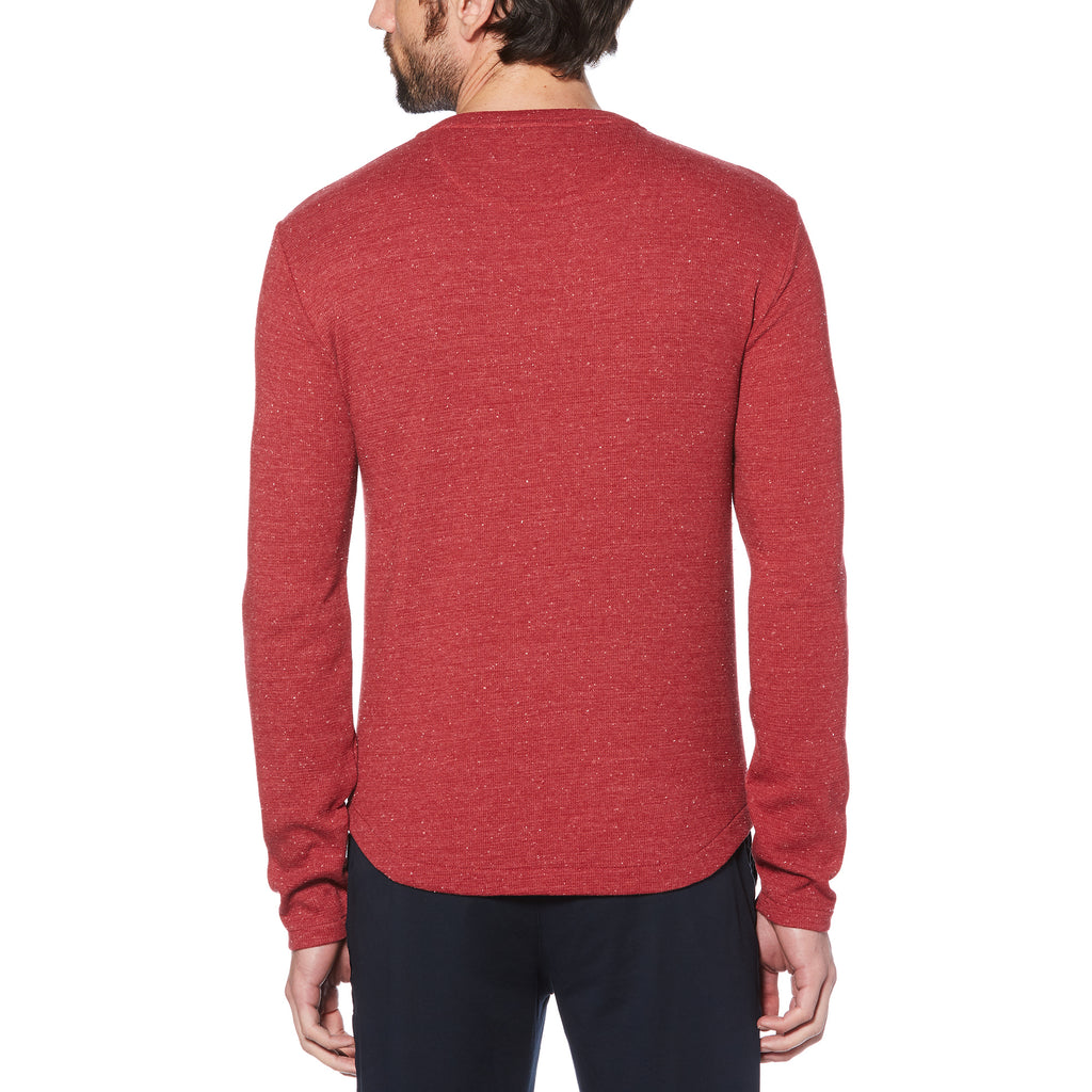 LONG SLEEVE WAFFLE HENLEY (RED) - ORIGINAL PENGUIN