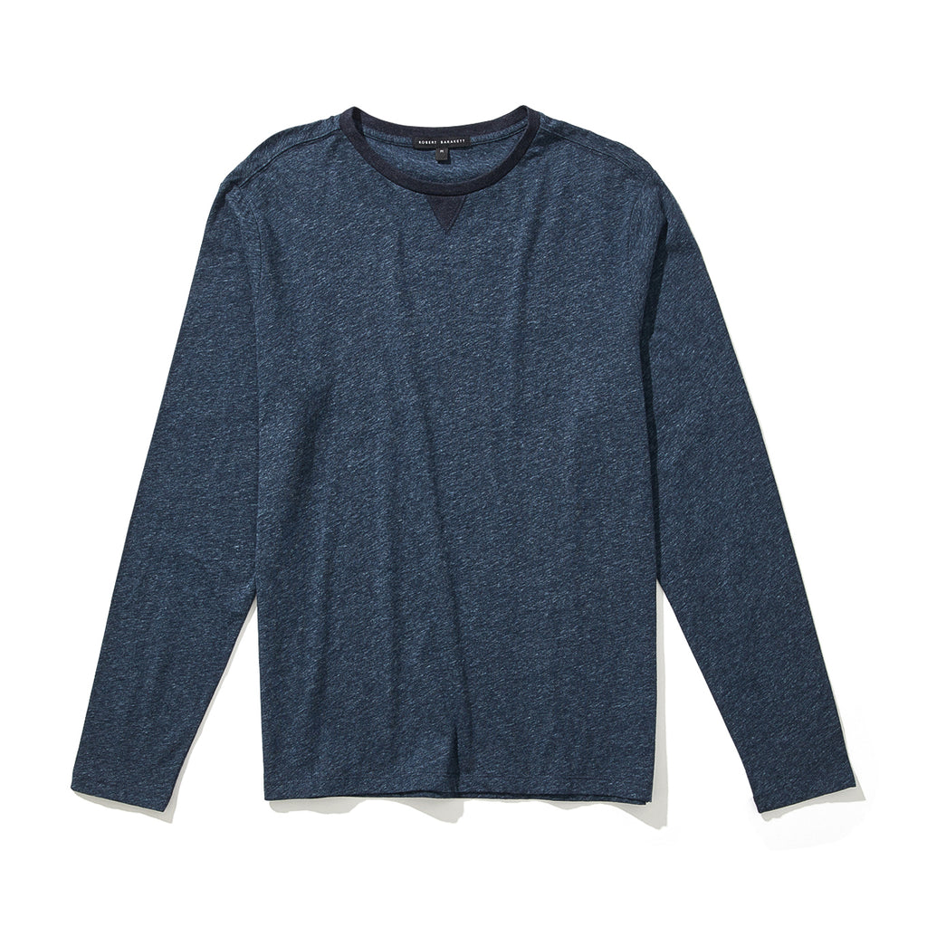 FARLOW LONG SLEEVE CREWNECK (NAVY) - ROBERT BARAKETT